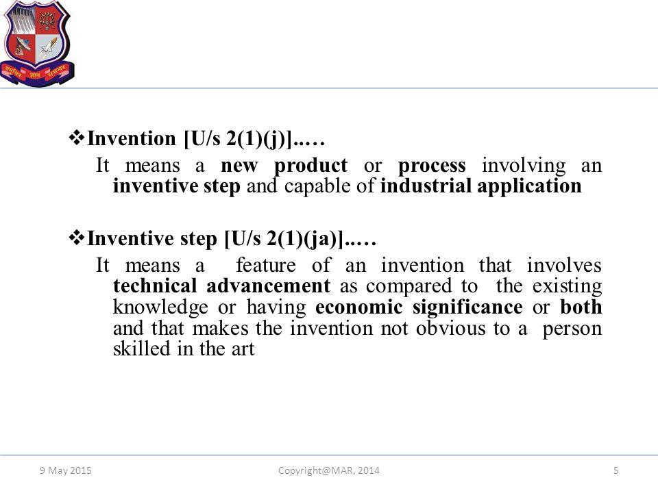 Invention [U/s 2(1)(j)]..…